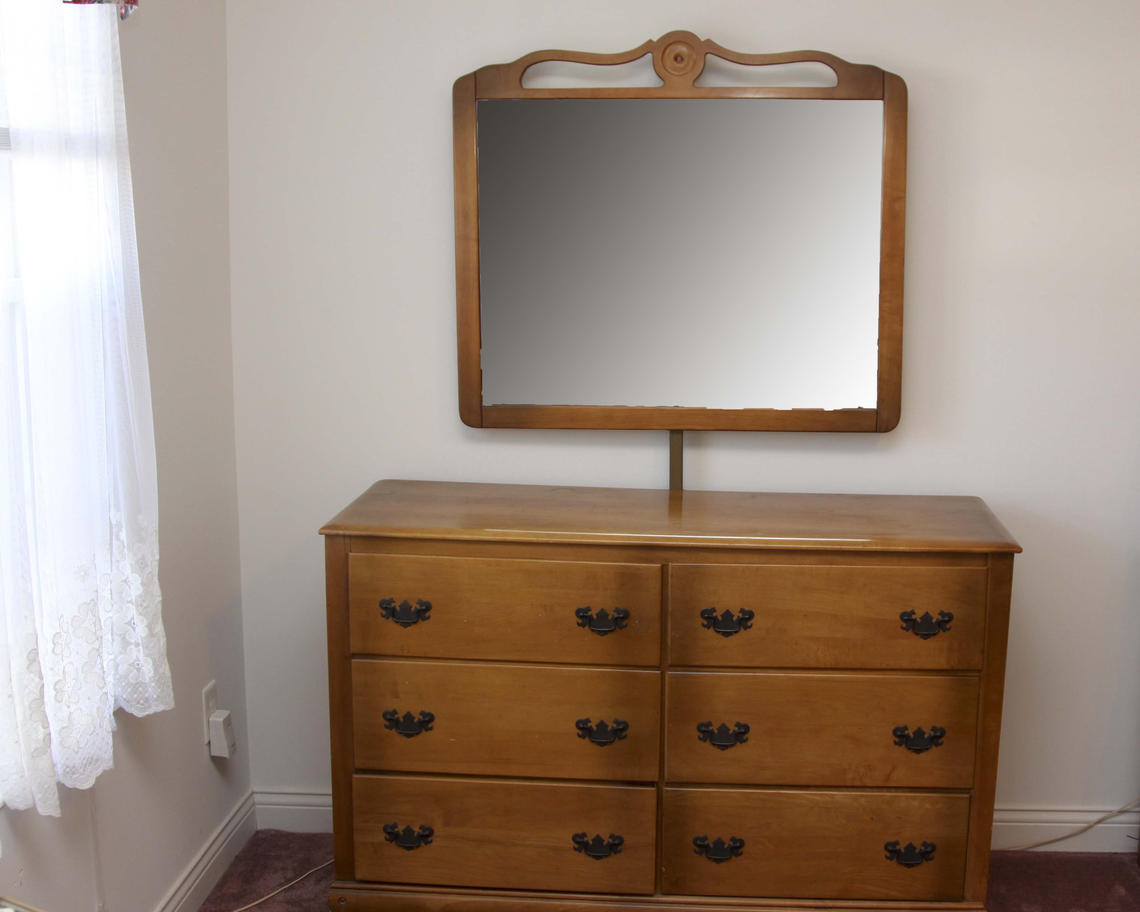 Virginia House Maple Dresser With Mirror ...