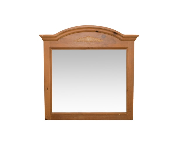White Washed Wood Frame Mirror : EBTH