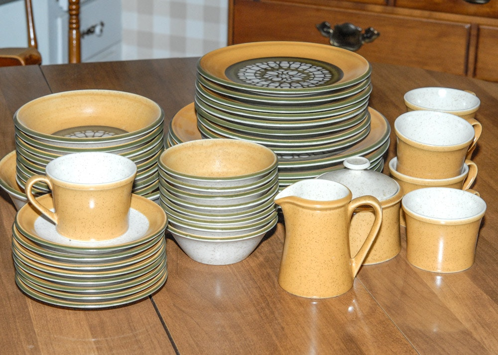 Charmant Premiere DuraStone Stoneware Dining Set ...