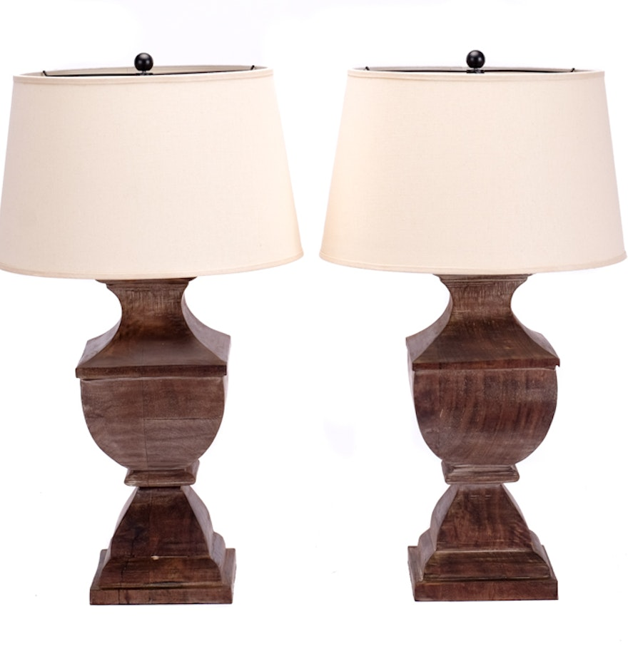 pair of pottery barn urn shaped table lamps ebth. Black Bedroom Furniture Sets. Home Design Ideas