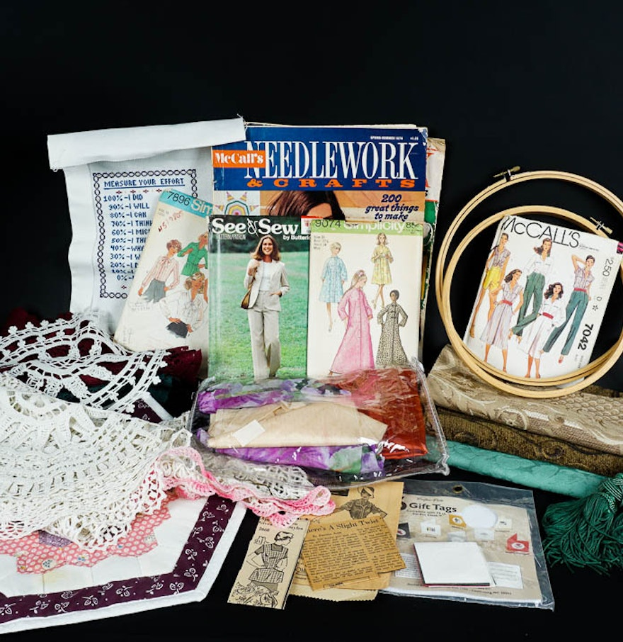 sewing patterns and craft supplies ebth