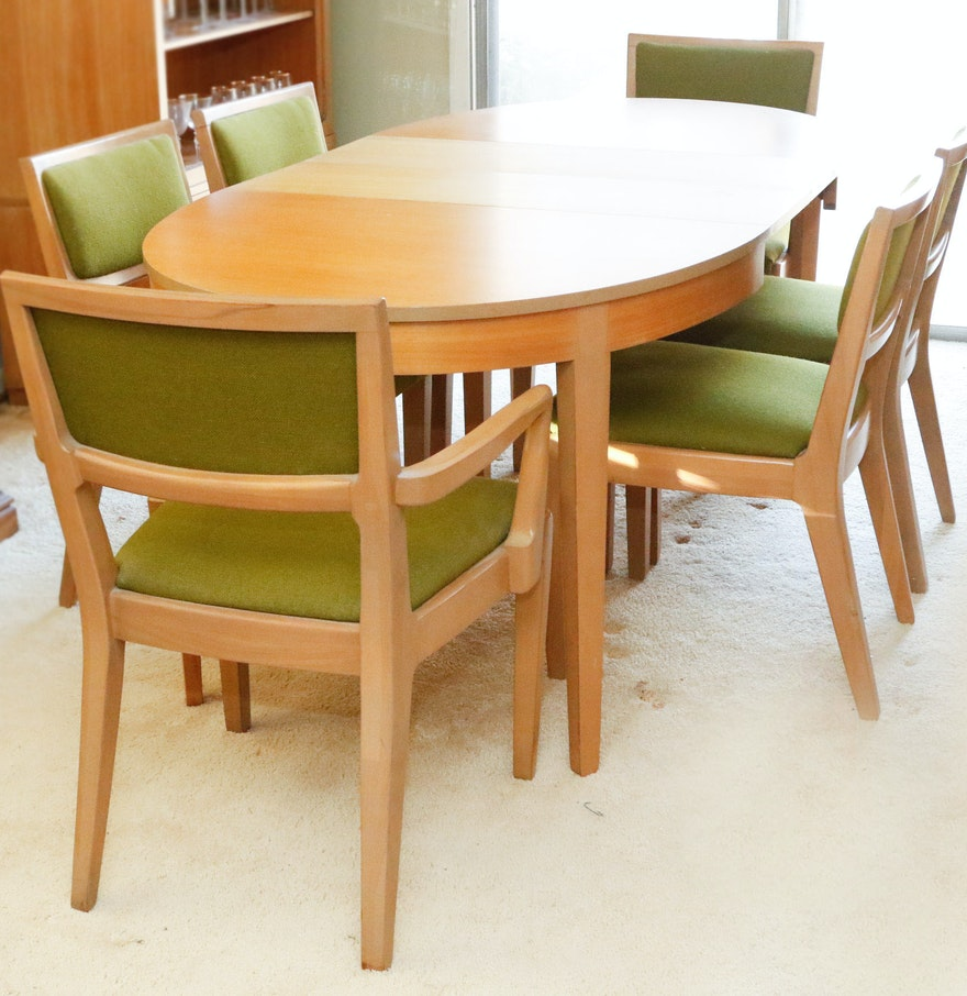 Edward Wormley For Drexel Precedent Dining Table And Chairs  EBTH - Drexel dining table