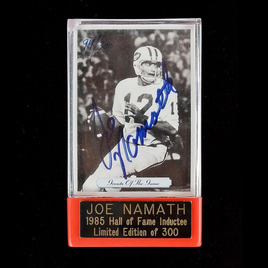 more photos 3d503 41ed8 Joe Namath Autographed Football Card