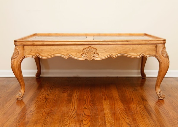 Drexel Heritage Marble Top Coffee Table Ebth