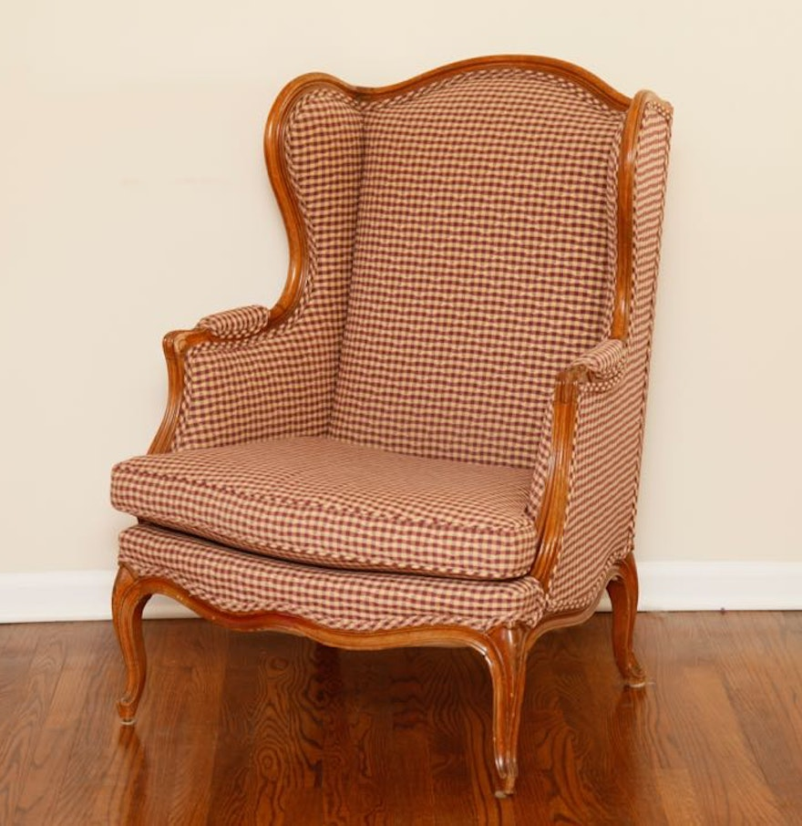 Antique louis xiv chair - Antique Louis Xiv Style Wingback Chair