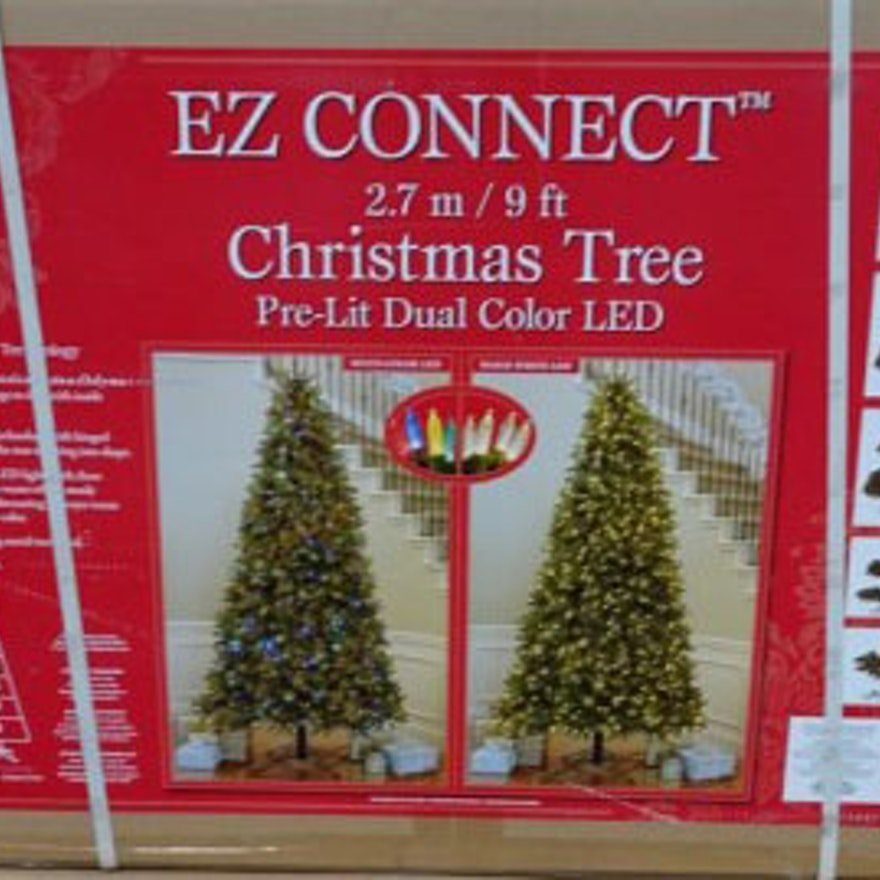 12 Ft Pre Lit Christmas Tree Costco: EZ Connect Nine Foot Christmas Tree Dual Color LED