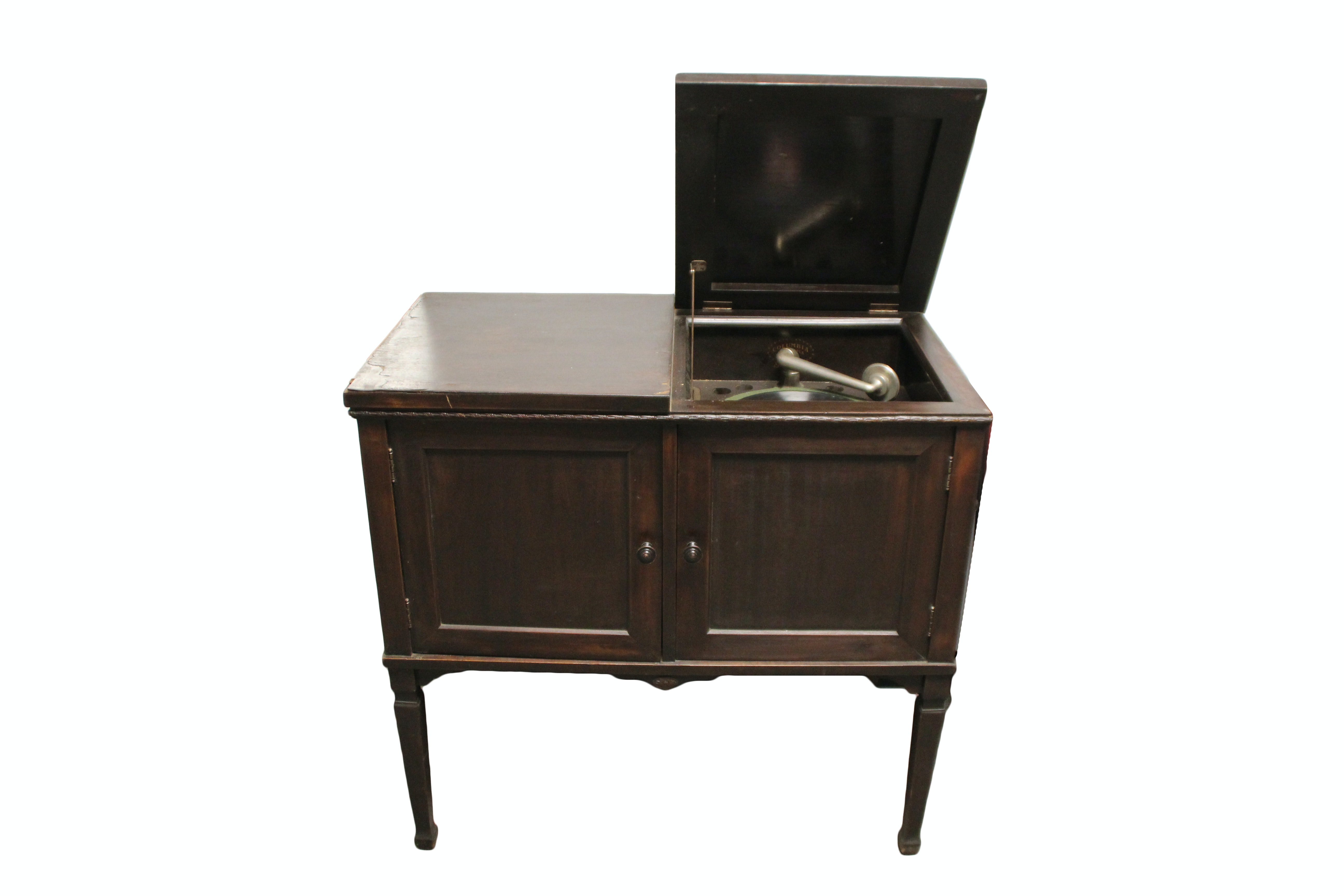Superbe Vintage Columbia Grafonola Hand Crank Phonograph Cabinet ...