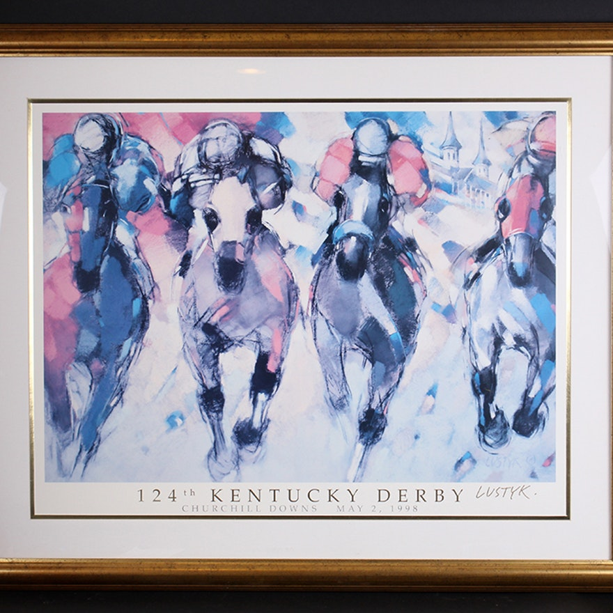 Official 1998 Kentucky Derby Poster By Boguslaw Lustyk Ebth