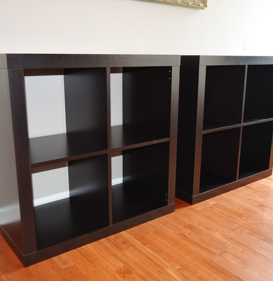 ikea black brown 39 kallax 39 shelving units ebth. Black Bedroom Furniture Sets. Home Design Ideas