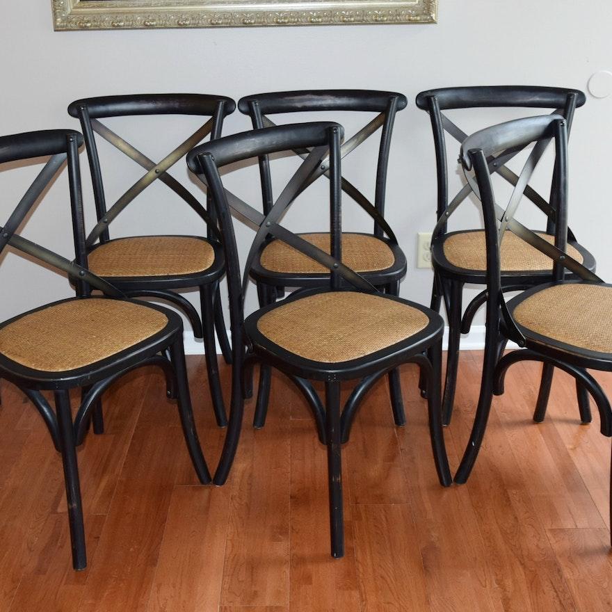 Six Arhaus Cadence Dining Chairs Ebth