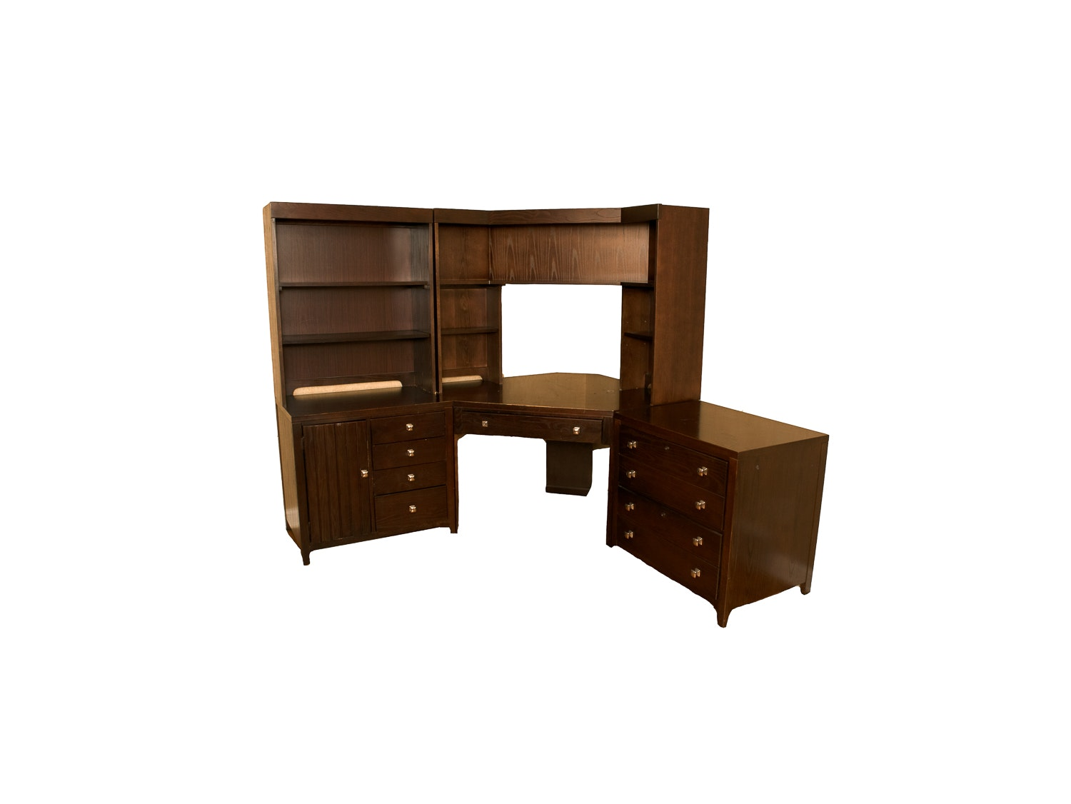 Stanley Furniture Desk With Hutch And Filing Cabinet ...