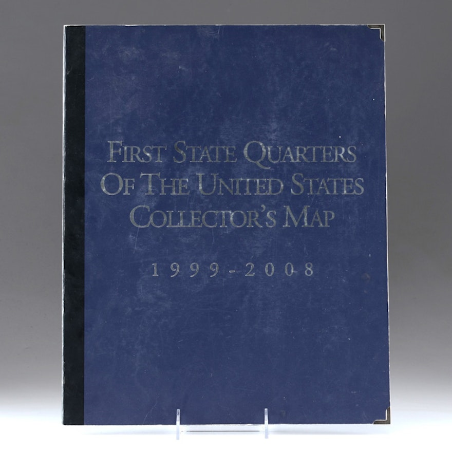 First State Quarters of the United States Collectors Map : EBTH