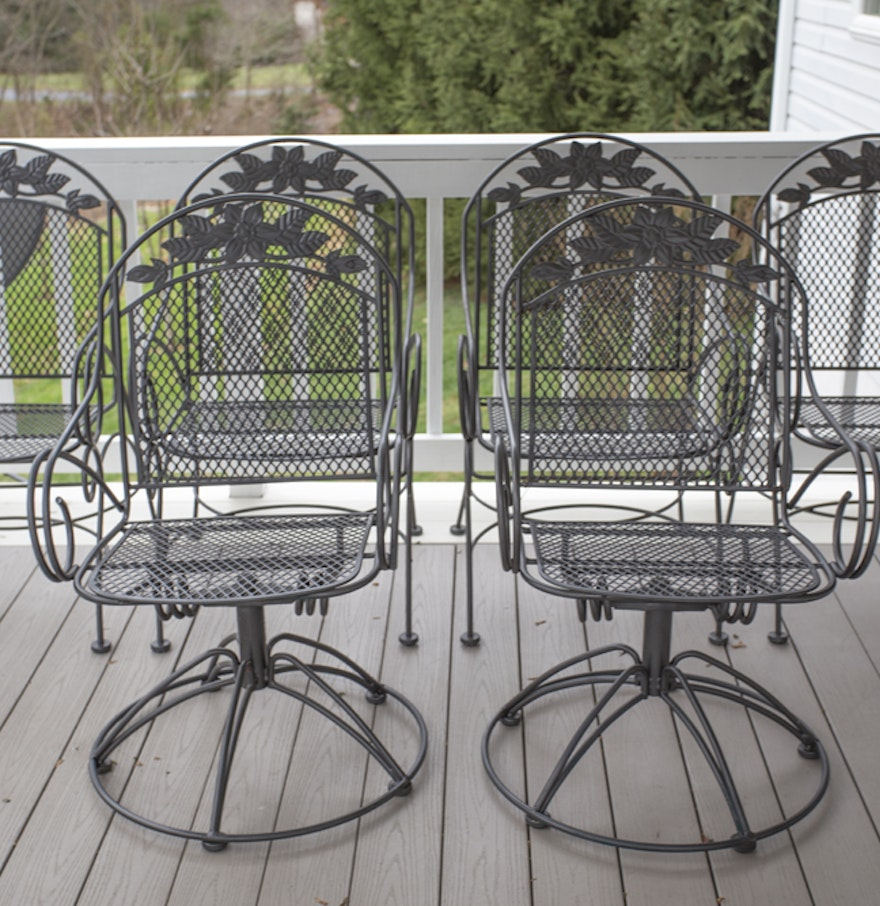 Outdoor Wrought Iron Dining Chairs : EBTH
