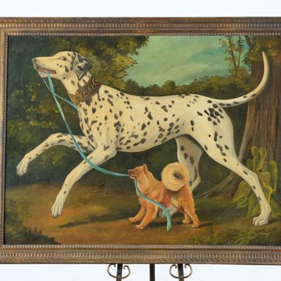 Original Oil Painting of Dogs by William Skilling
