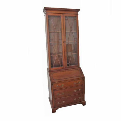 Chippendale Style Mahogany Secretary Bookcase. Online Furniture Auctions   Vintage Furniture Auction   Antique