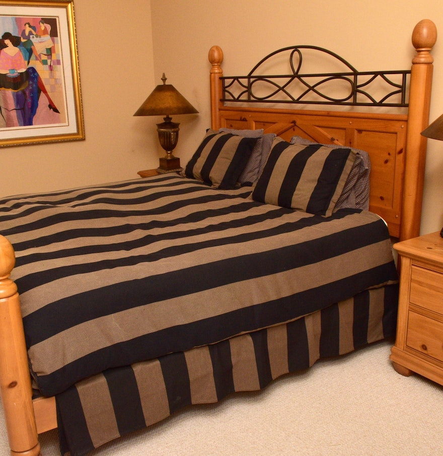 Alexander Julian Home Colours King Bed and Custom Bedding. Alexander Julian Home Colours King Bed and Custom Bedding   EBTH