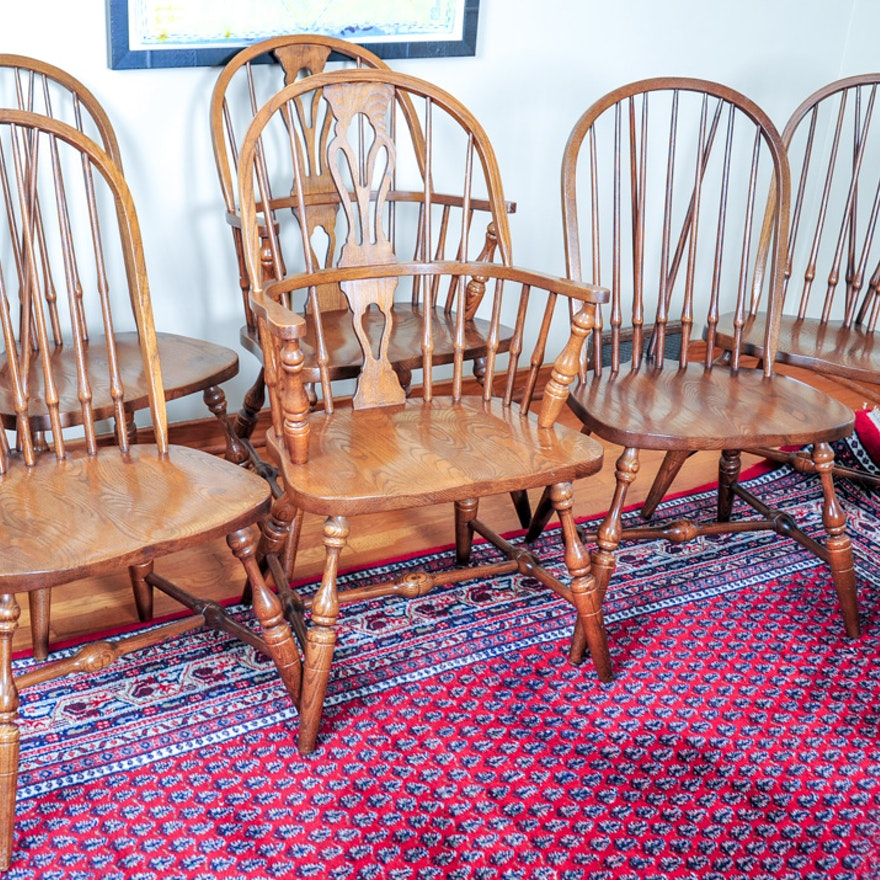 Pennsylvania House Oak Windsor Dining Chairs : EBTH
