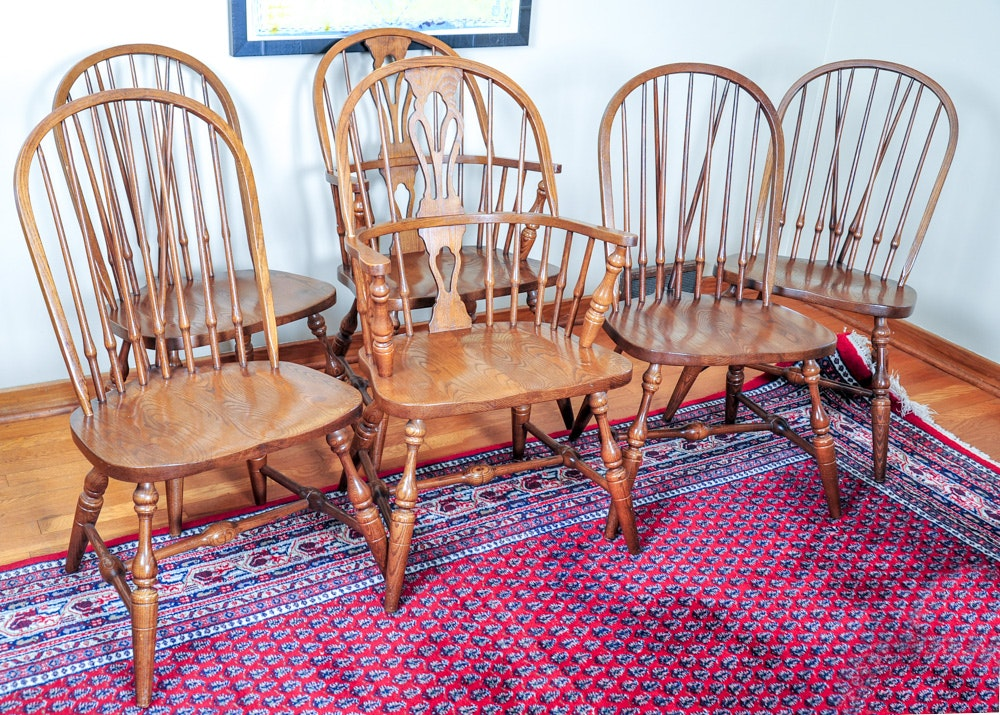 Pennsylvania House Oak Windsor Dining Chairs ...