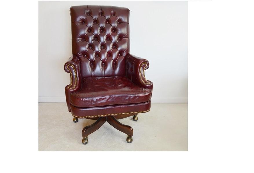 Cabot Wrenn Executive Cordovan Leather Desk Chair ...