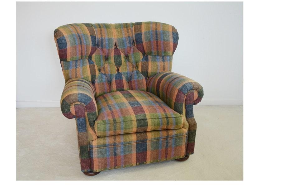 Ralph Lauren Plaid Upholstered Lounge Chair ...