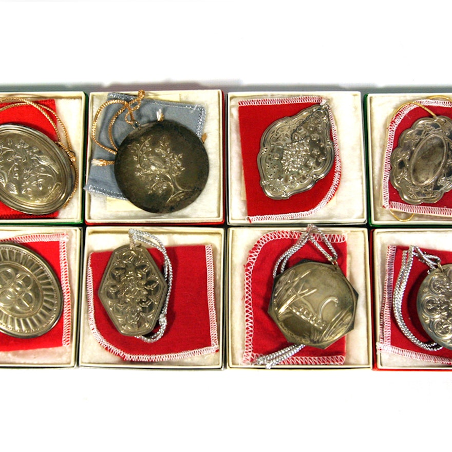 """Eight Towle Sterling """"Twelve Days of Christmas"""" Ornaments ..."""