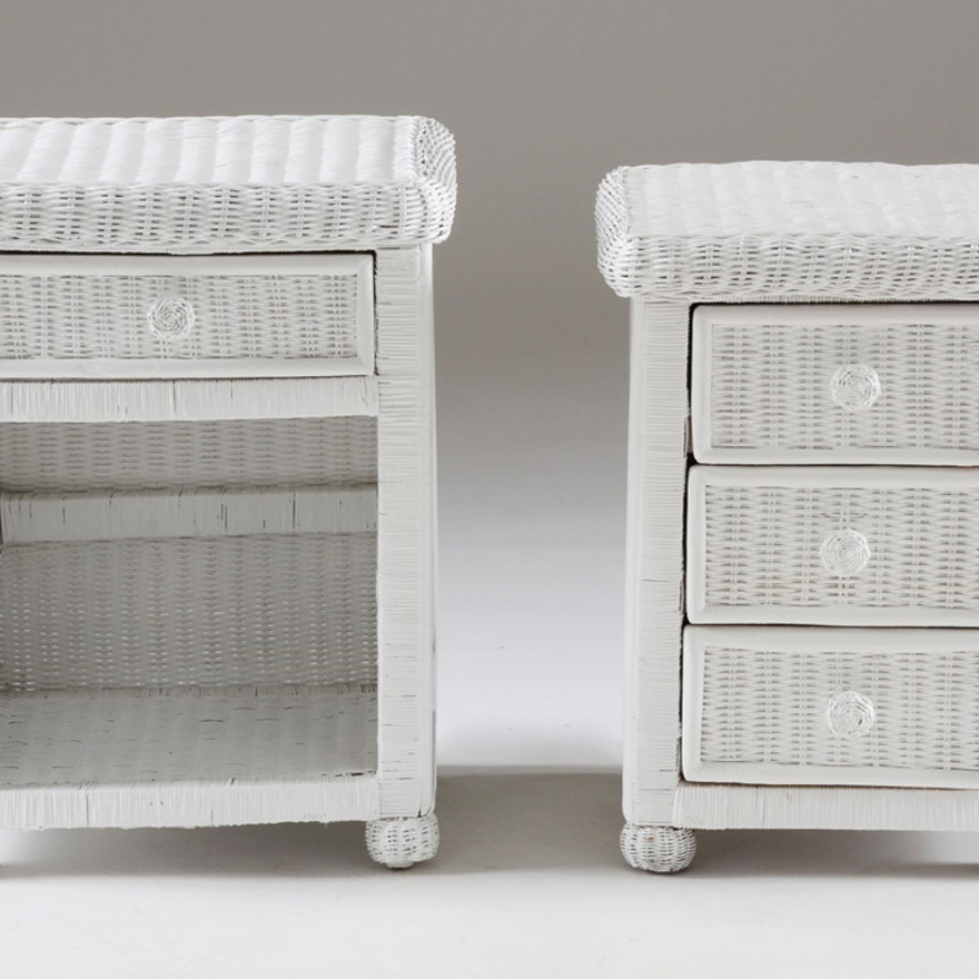Pier 1 Bristol Collection Wicker Night Stand And Side Table