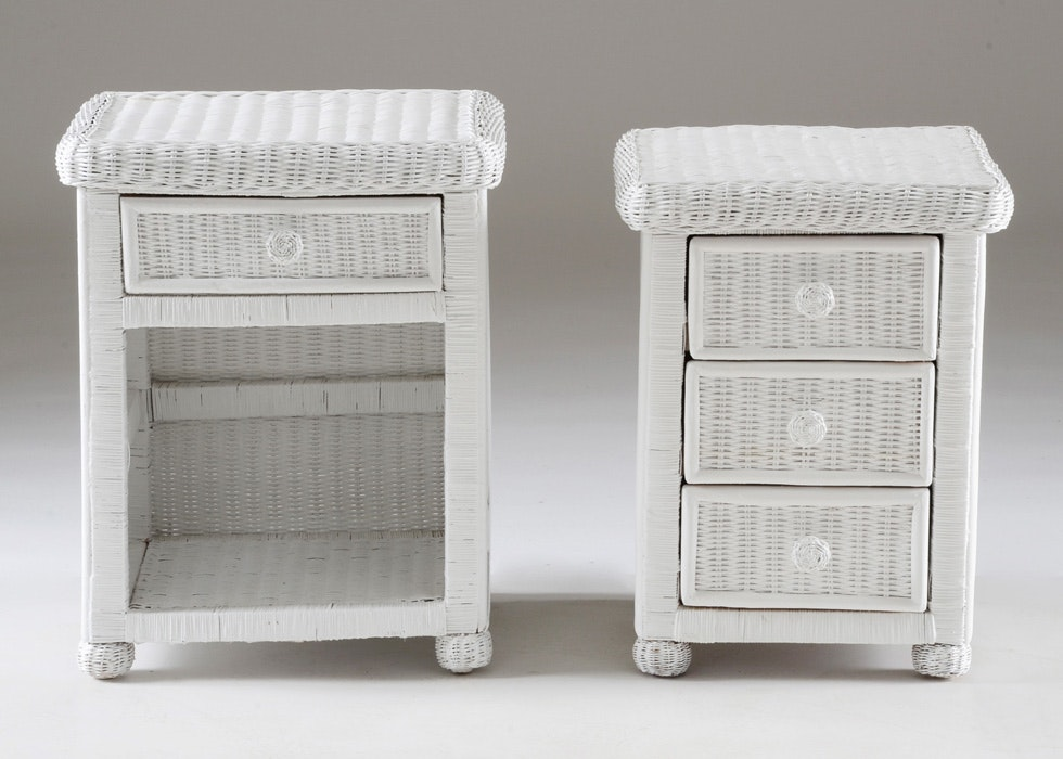 Merveilleux Pier 1 Bristol Collection Wicker Night Stand And Side Table ...