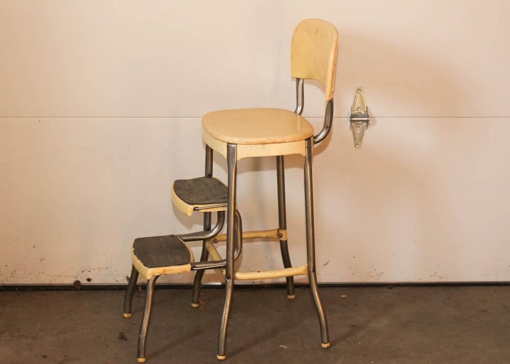 Vintage Cosco Step Stool Chair Ebth