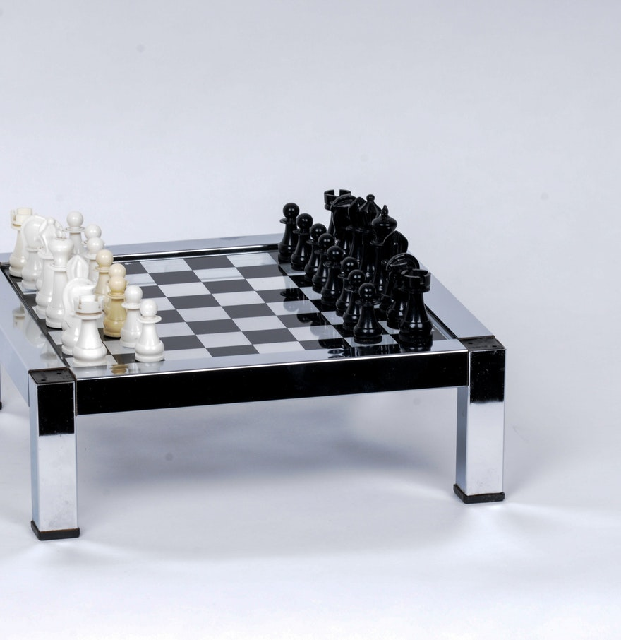 Vintage Mid Century Modern Chess Set Ebth