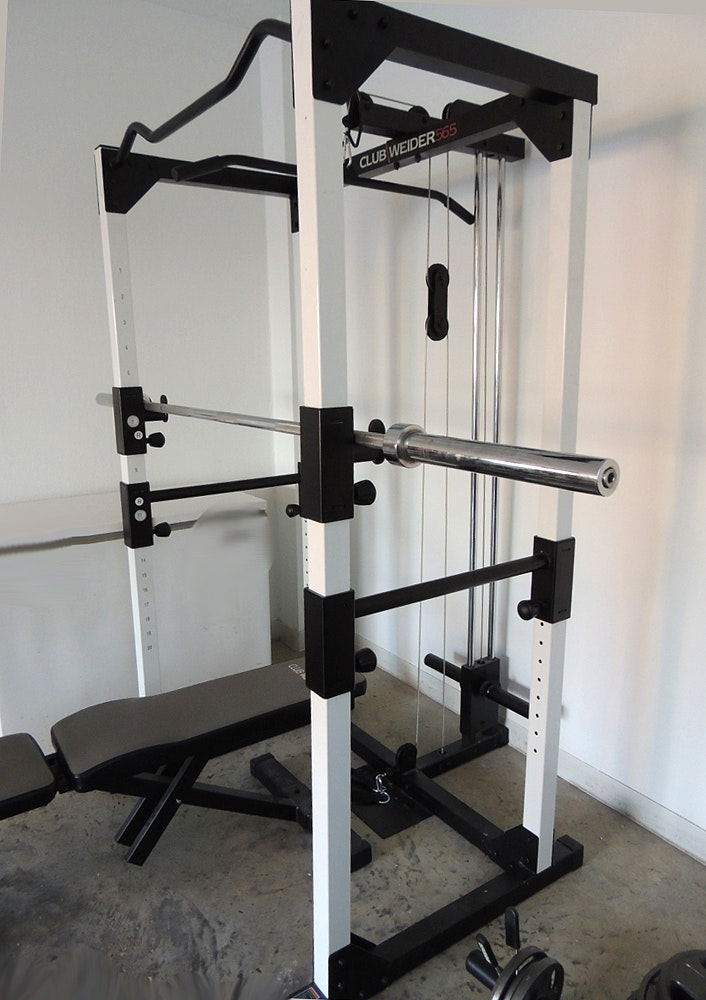 Club Weider 565 Home Gym with Weights and Bench : EBTH