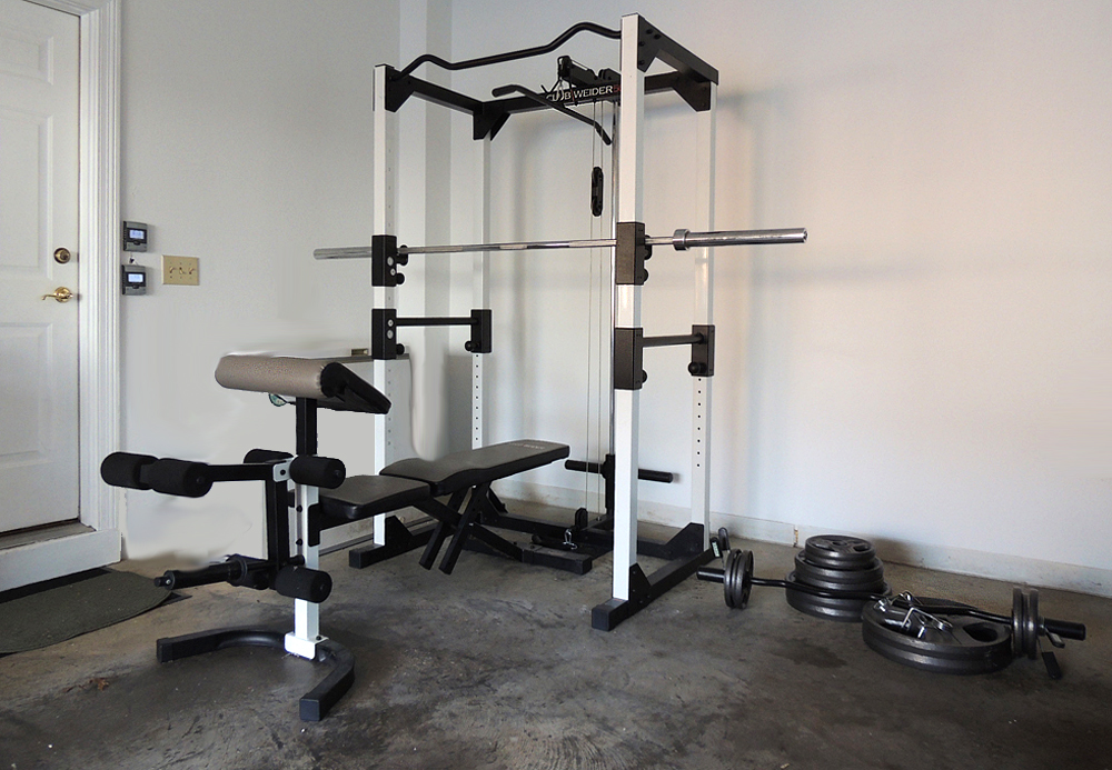 Club weider home gym with weights and bench ebth