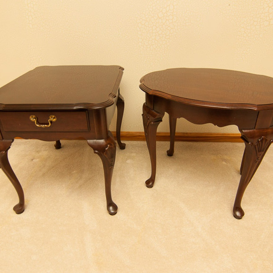 Ethan Allen Queen Anne End Tables Ebth