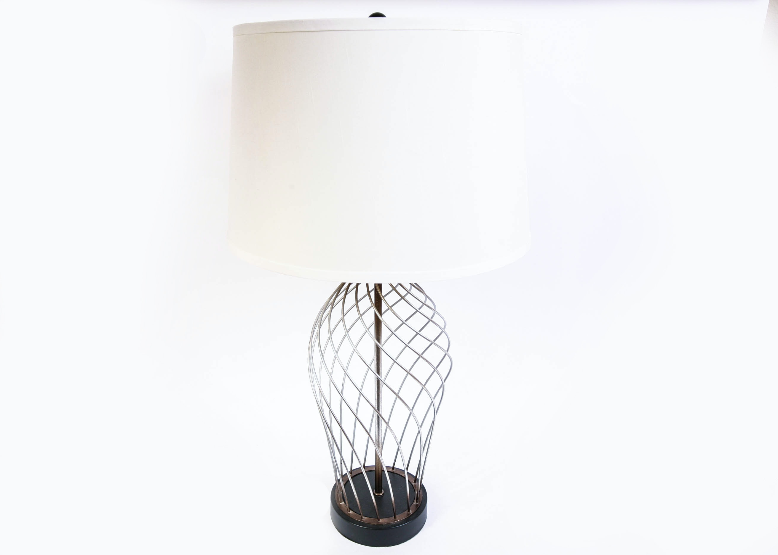 Wire Cage Table Lamp Ebth