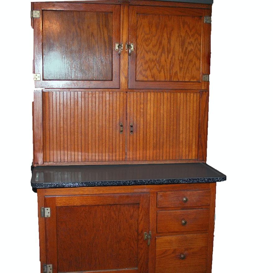 Antique Hoosier Cabinet ... - Antique Hoosier Cabinet : EBTH