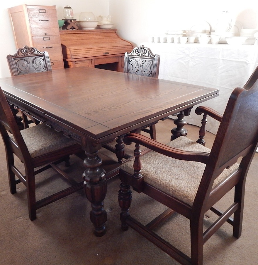 Dining Room Table Antique Walnut Jacobean Legs This Is Part Of A 3