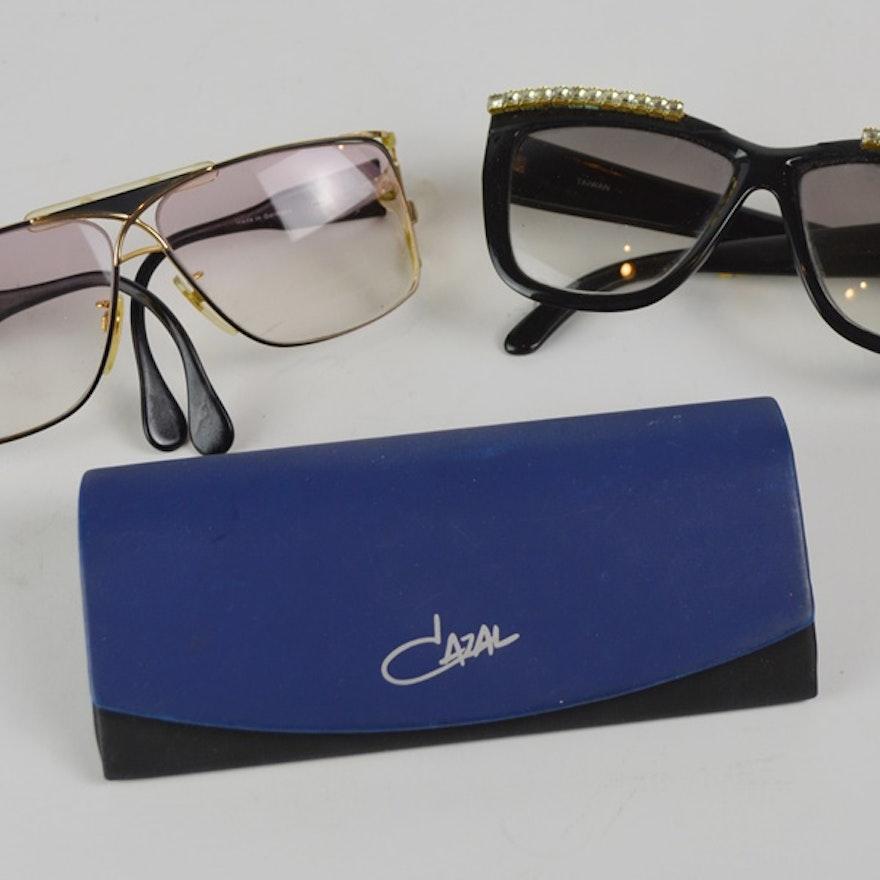 dc0acb6ea76e Two Pair Eyeglass Frames Including Cazal   EBTH