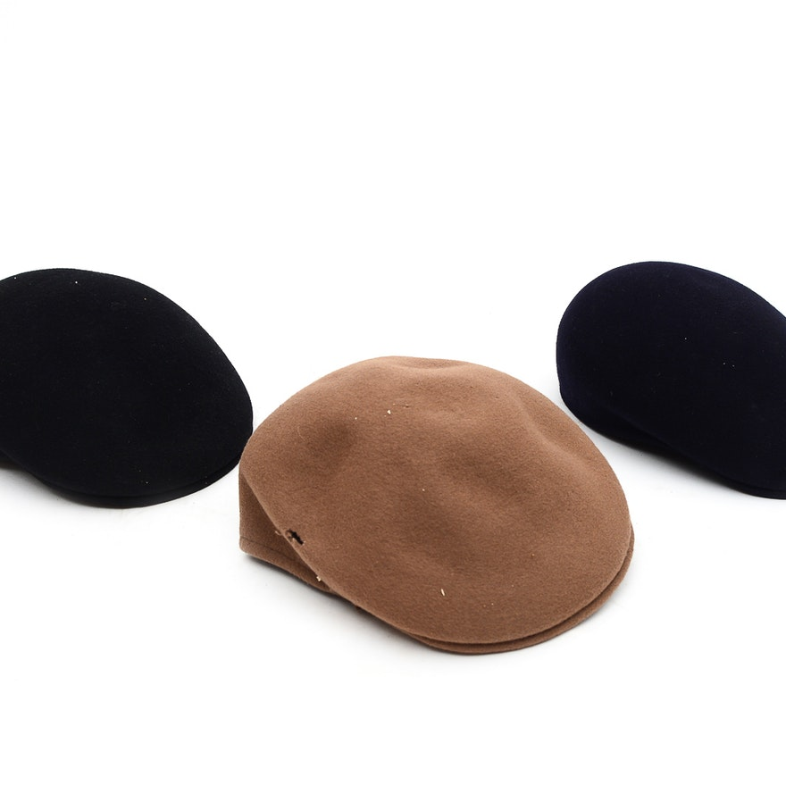 Three Vintage Kangol Hats   EBTH c70d99a10568