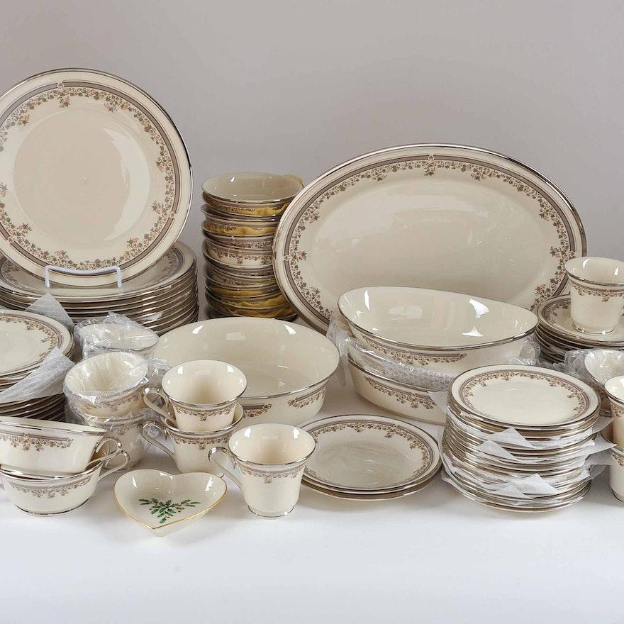 Lenox Lace Point China Dinnerware Set : EBTH