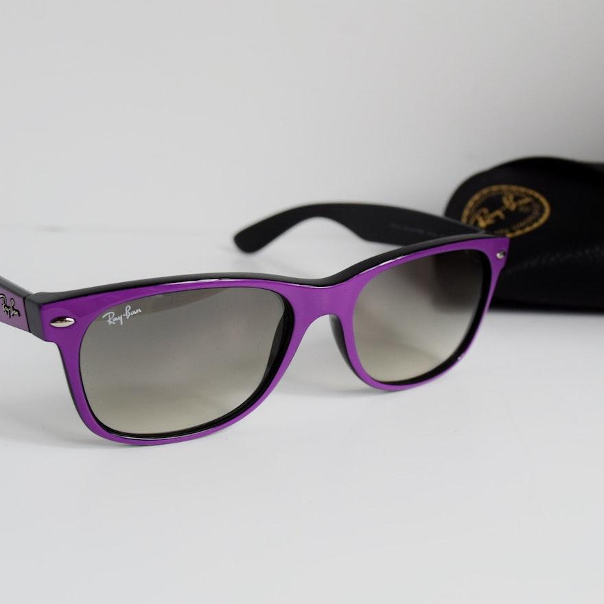 49d68464d2 Purple Ray Ban New Wayfarer Sunglasses   EBTH