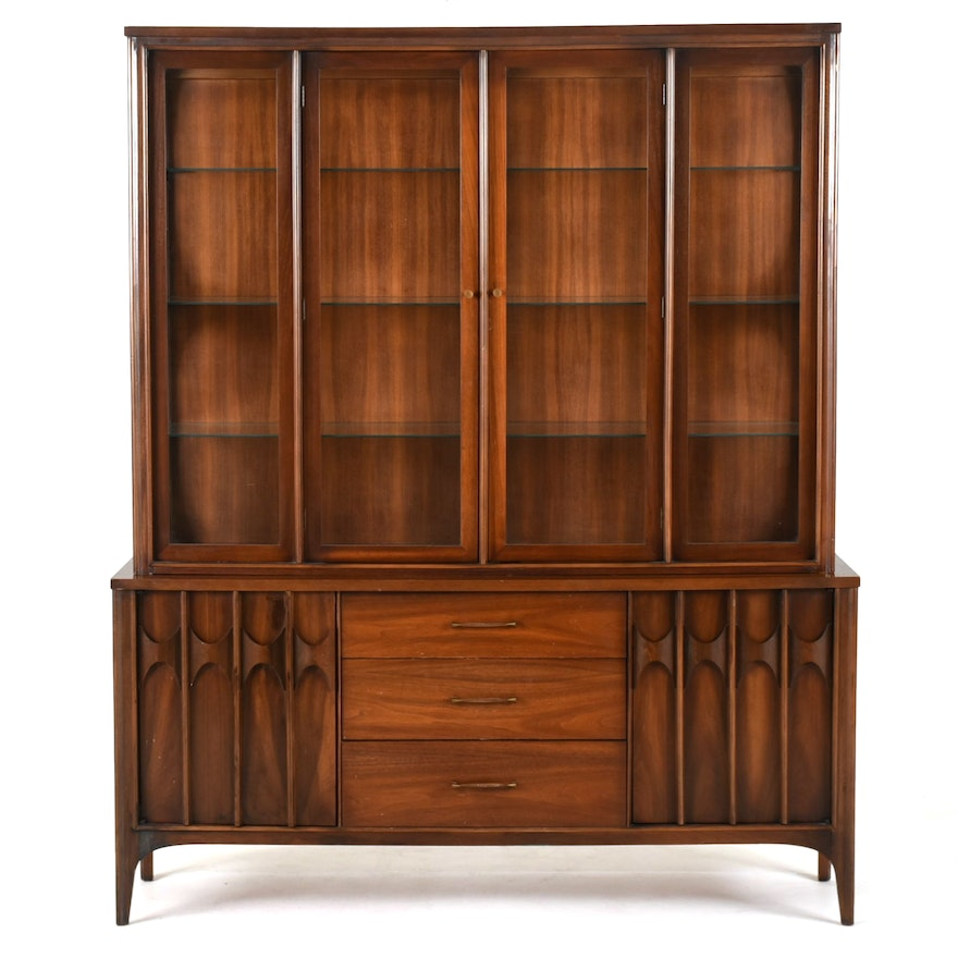 mid century modern china cabinet ebth. Black Bedroom Furniture Sets. Home Design Ideas