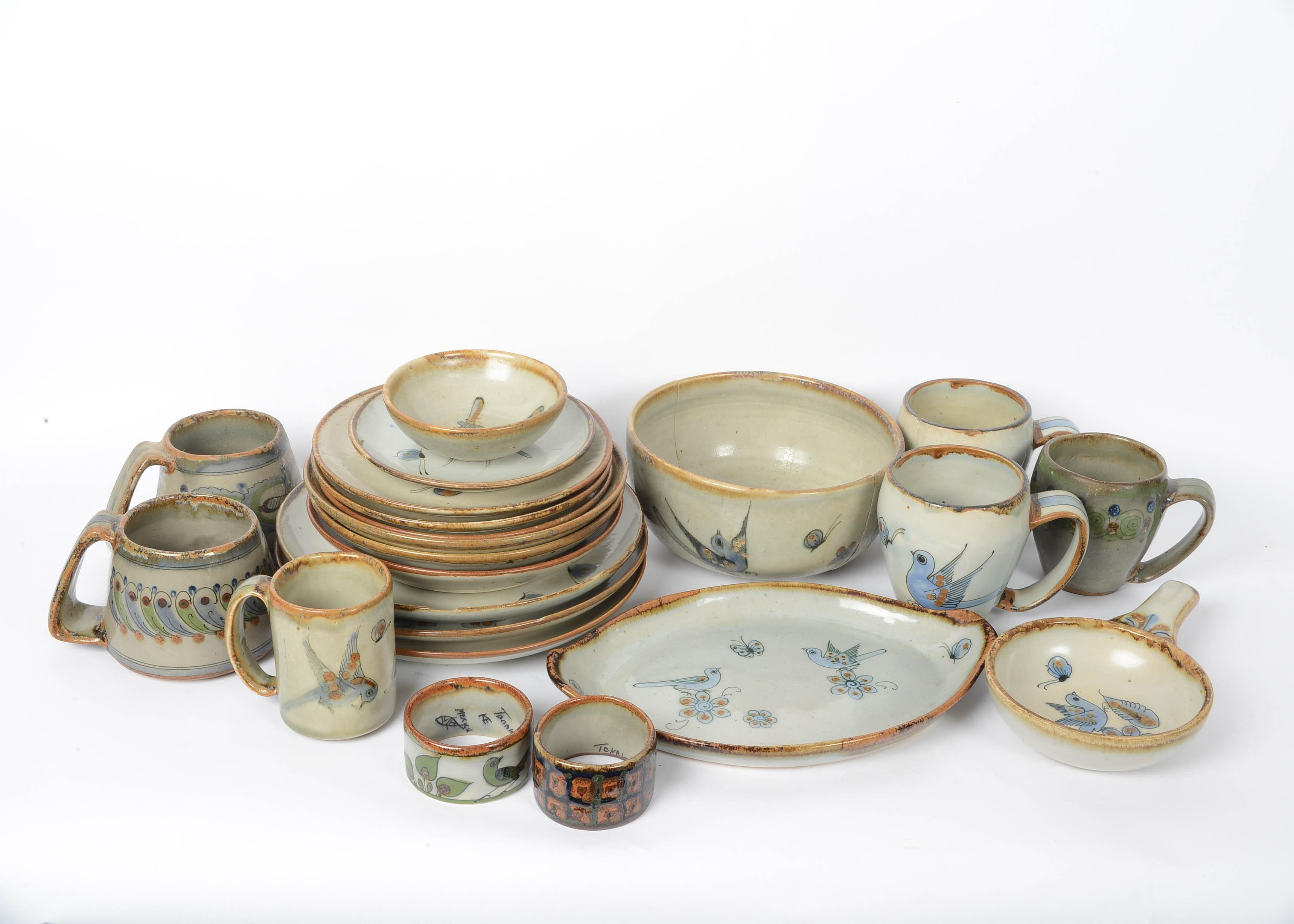 Ken Edwards El Palomar Handcrafted Mexican Pottery Dishware ...  sc 1 st  EBTH.com & Ken Edwards El Palomar Handcrafted Mexican Pottery Dishware : EBTH