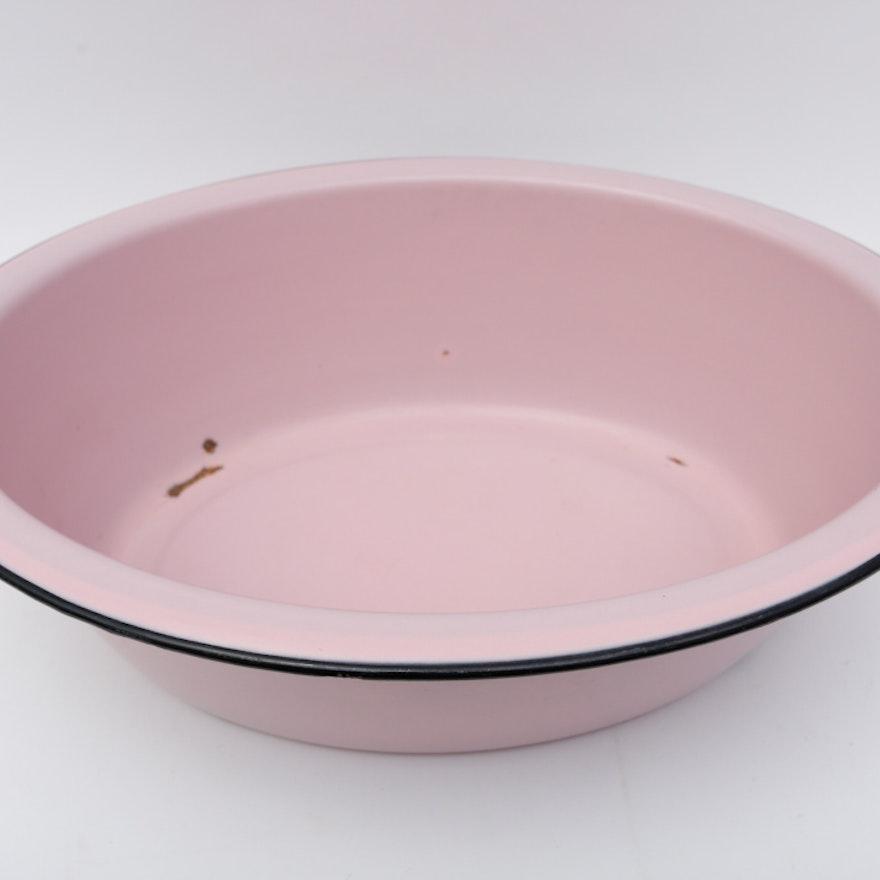 Vintage 1940s Pink Enamelware Baby Bath Basin : EBTH