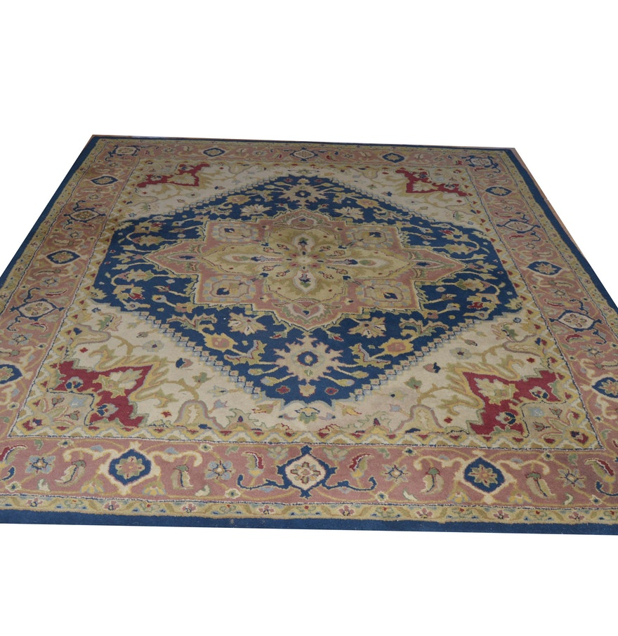 Persian Hand Woven Bakhtiari Style Wool Area Rug Ebth: Handmade Indian Wool Pile Rug : EBTH
