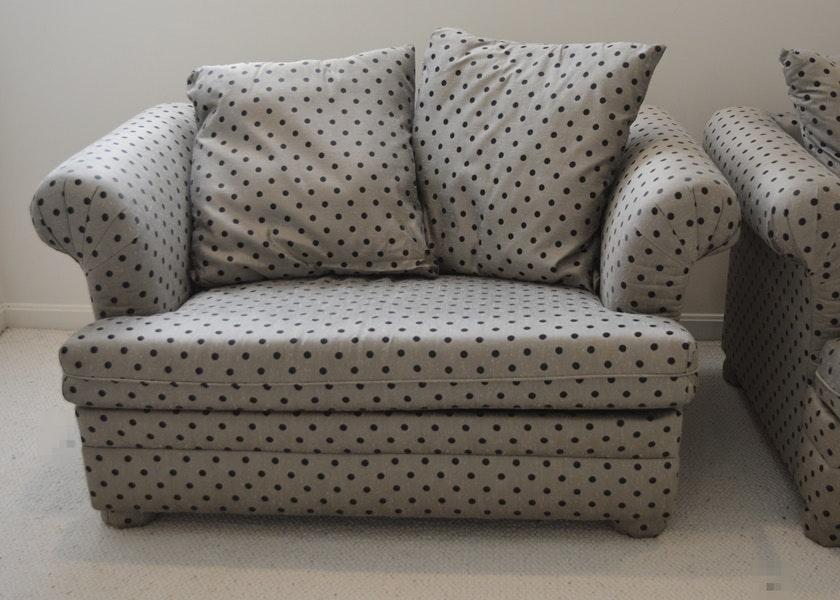 Pair Of Sealy Fashioniter Convertible Sofa Beds EBTH