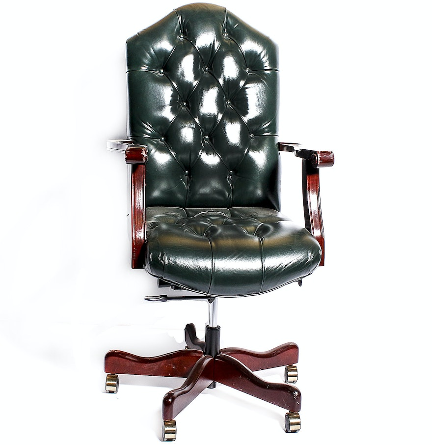 Office Chair Companies: Hickory Leather Company Office Chair : EBTH