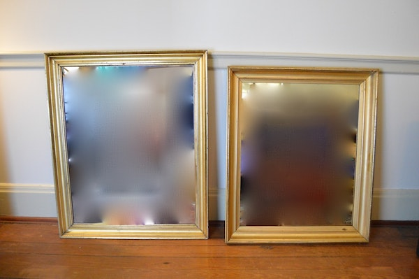 Gilt framed horse oil painting and mirrors ebth for Mirror 34 productions