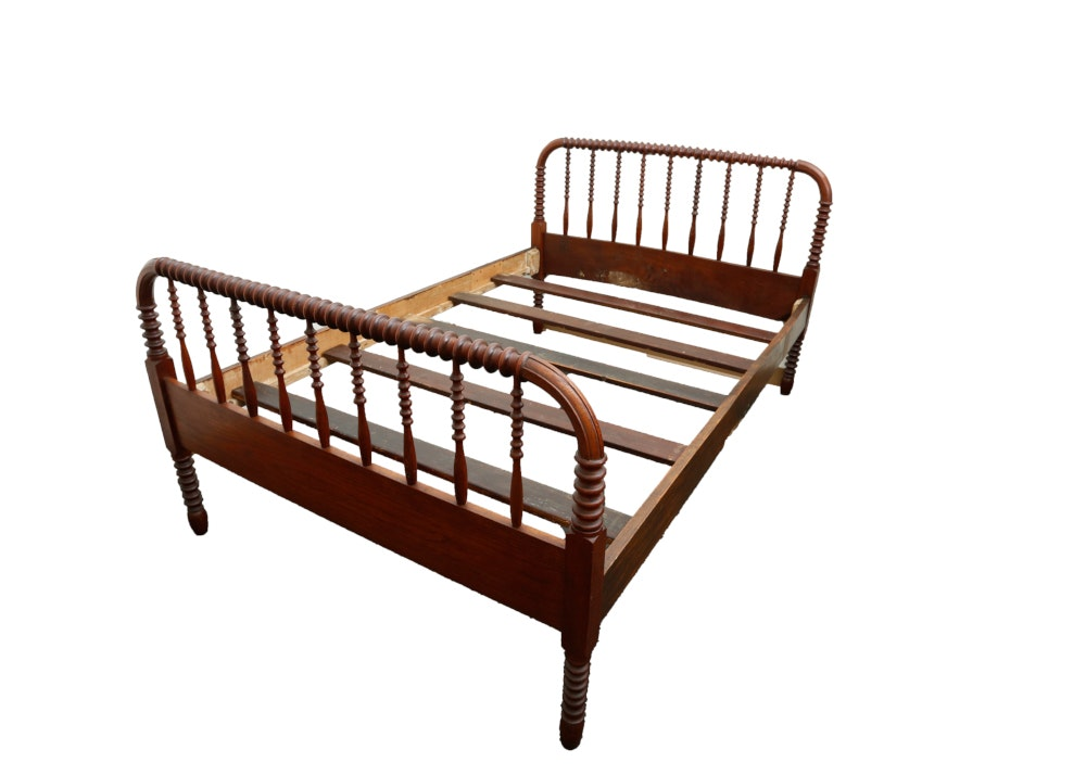 Antique Jenny Lind Spool Style Bed Frame Ebth