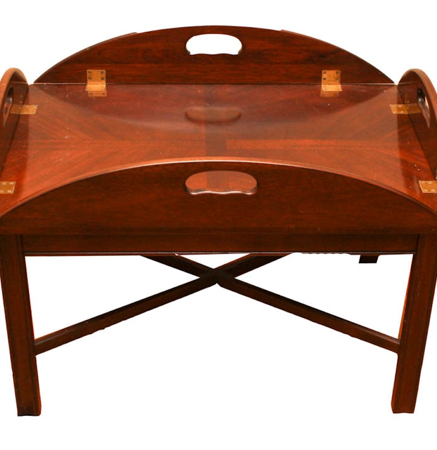 Butler Tray Coffee Table Chippendale Style Brandt Butlers Tray Mahogany Coffee Table Ebth