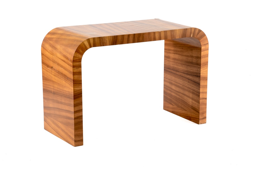Zebra Wood Veneer Console Table ...