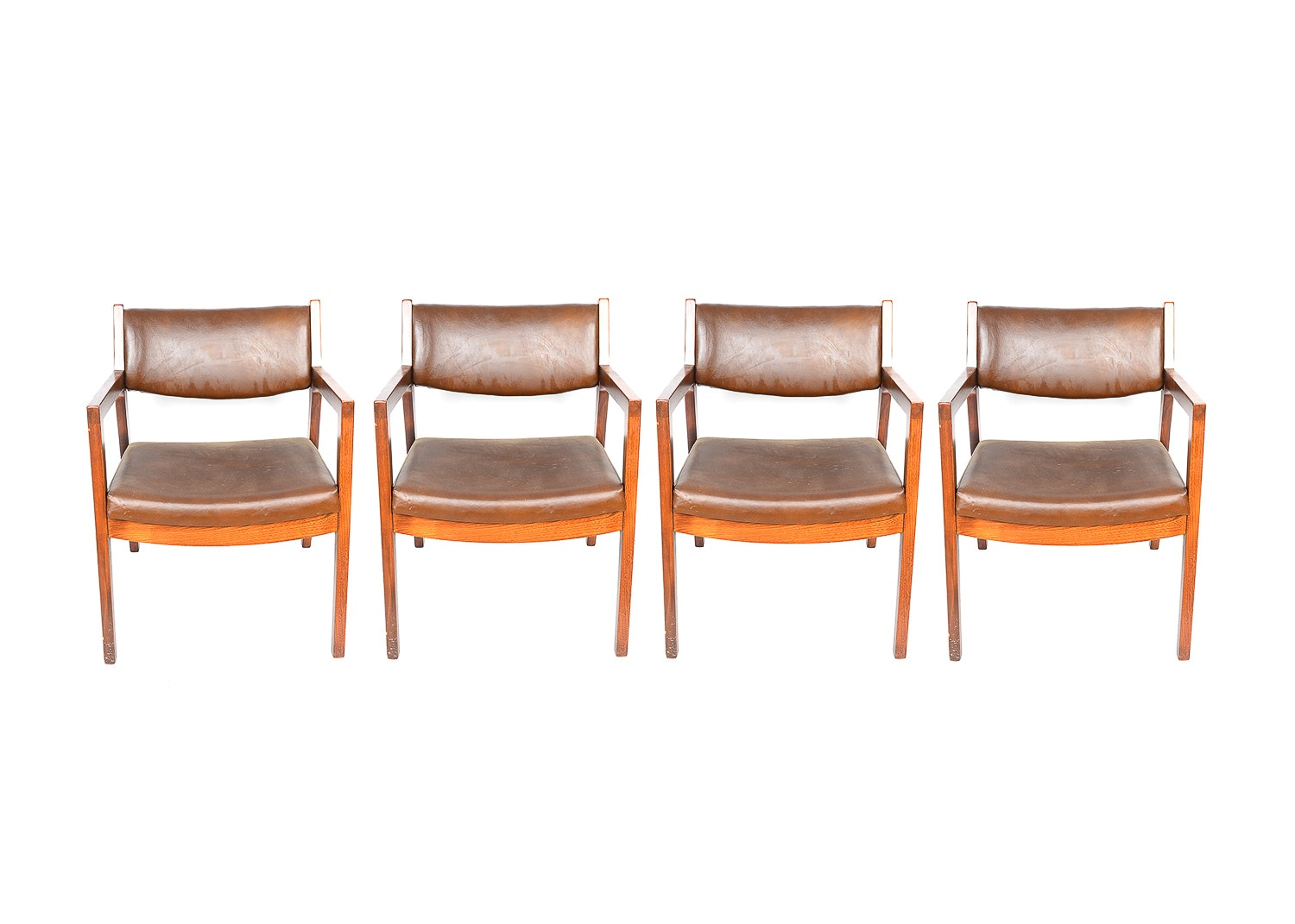 Set Of Four Paoli Office Chairs Ebth